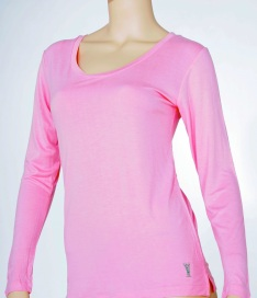 Pink Womens Long Sleeve Knit Top #5309