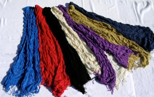 Casualmere® bamboo scarves - crinkle knit. 7 colors.