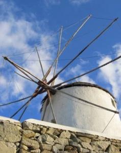 Classic Greek sailwing Windmill