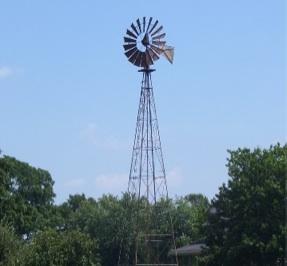 U.S. 40's steel blade farm windmill