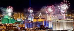 Las Vegas New Years eve - fireworks