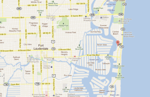 Google Map of Ft. Lauderdale - The Pillars Hotel