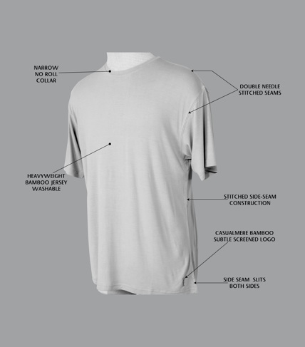 Casualmere® T-shirt construction features