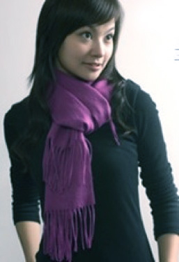 Plum bamboo scarf smooth knit