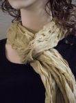 Tan Scarf - Black top from Casuamere