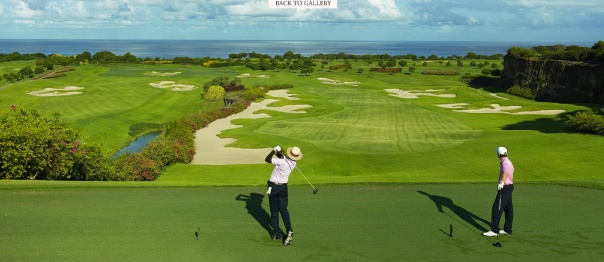 Teeing off in Barbados-Sandy Lane