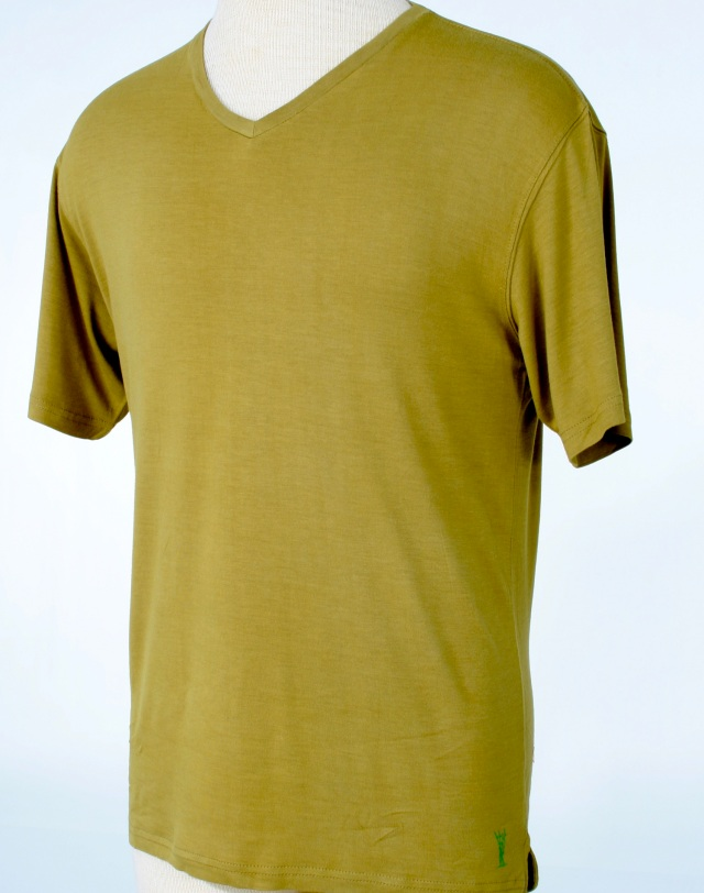 10145 Golden-Tan Mens v-neck - Casualmere