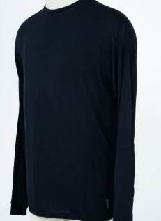 Black Long sleeve 100% bamboo Casualmere® shirt