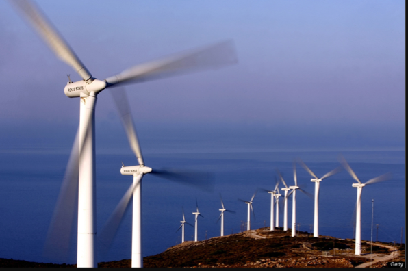 Windmills in Greece - Getty images