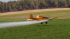 Air pesticide spraying