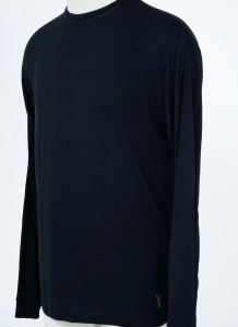 6109 Black Long sleeve bamboo shirt