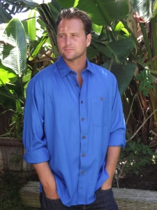 All Bamboo Shirt, button down style, long sleeve.